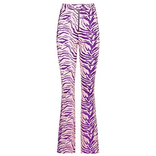 Pantalones de Mujer Ins Estilo Europeo y Americano Cremallera de Cintura Alta Y2k Moda Animal Patrón Micro-la Pantalones Mujer Pantalones Casuales