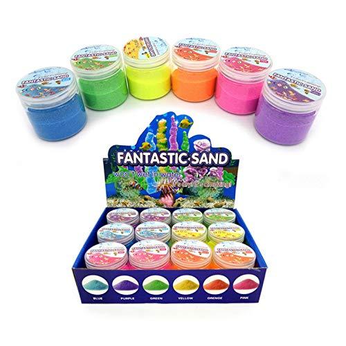 A/A Magic Sand - Arena De Colores para Niños - Play Magic Sand Impermeable Space Sand Juguetes De Arena Hidrofóbicos - DIY Juguetes De Dibujo De Arena De Colores para Niños Mayores De 3 Años