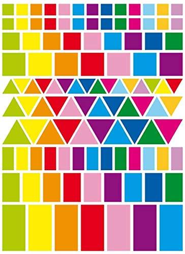 CTOP Creative Hobby – Etiquetas Adhesivas geométricas Colores Vives y tamaños Surtidos – 324 ceip