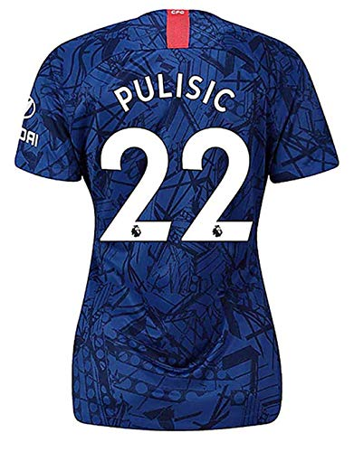HFSOCCER Christian Pulisic NO.22 Jersey Chelsea 2019-2020 Womens Home Jerseys Blue (M)