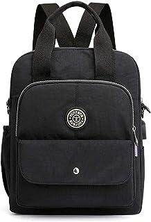 Fresh wild simple fashion Lightweight Nylon Backpack Waterproof Multi-Pocket Shoulder Bag School Bag,Size:29 * 9 * 36cm,Co...