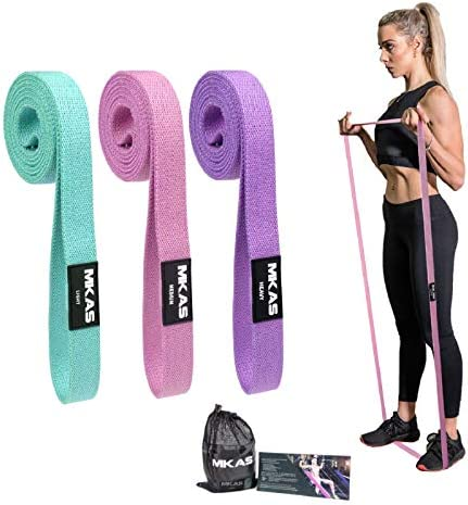 MKAS Long Resistance Bands Set Fabric Exercise Bands Resistance for Women Cloth Loop Resistance product image