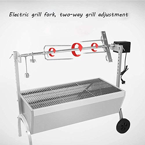 51W9JKQ5QGL - KDKDA Jumbo Charcoal Grill Schwarze E-Fork Grill Zwei-Wege-Grill Gabel Adjustment zweilagig Großflächen Fahrzeug eingebaute Convenient Selbstfahr Barbecue Grill