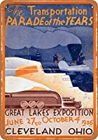 SUDISSKM ティンサイン1936 Great Lakes Expoクリーブランドコレクティブルウォールアート