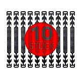 GIMEI Maskenhaken 10 Stück, Maskenverlängerung Maskenhalter Maskenhalterung Hinterkopf Mundschutzverlängerung verstellbar Anti-Rutsch Masken Halter für Erwachsene & Kinder (Schwarz)