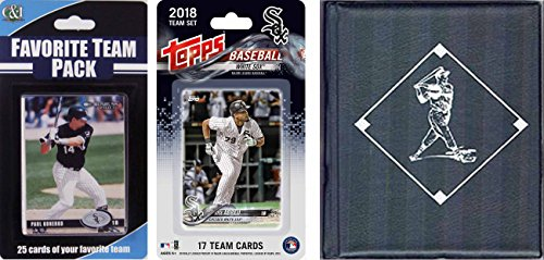 C&I Collectables MLB Chicago White Sox 2018Whitesoxstscmlb Chicago White Sox 2018 con licencia de Topps Team Set & Favorite Player Trading Cards Plus Álbum de almacenamiento, marrón, N/A