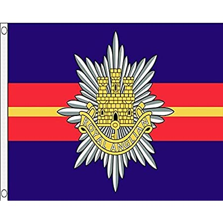 Royal Anglian  FLAG 5/' x 3/' British Army Military Regiment Armed Forces