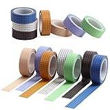 Hangarone - Juego de 7 rollos de cinta adhesiva, 10 m (33 pies) de colores para escribir, cinta adhesiva de 15 mm de ancho, cinta adhesiva para manualidades y manualidades