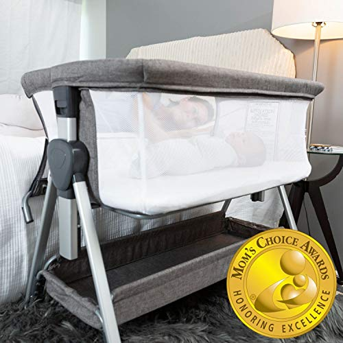 Bedside Bassinet for Baby   Bedside Sleeper for Baby Allows Safe Cosleeping at Arms Reach   Portable Baby Bed  ...