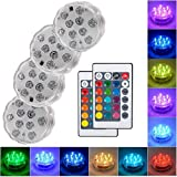 Submersible Led Lights with Remote - 2020 Underwater Led Lights - Waterproof Light Pad - L...