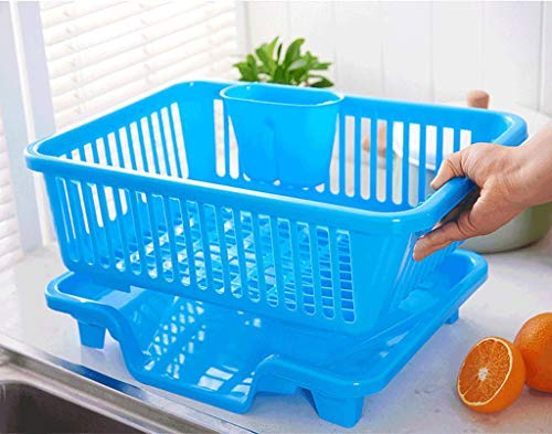 Qiutianchen Küchengeschirr Rack Plastikgeschirr und Besteck Regal Aufbewahrungsbox