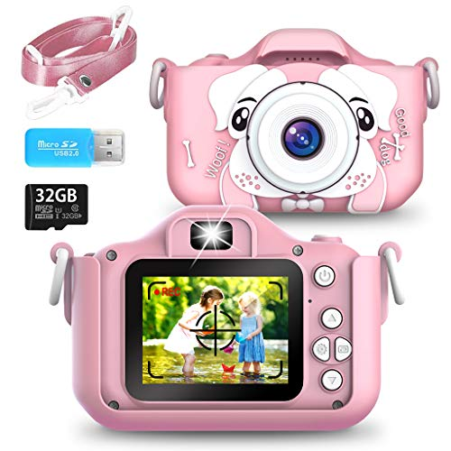 Kids Digital Camera, 40MP HD 1080P IPS Screen Anti-Drop Camcorders Rechargeable Video Camera with WiFi 32GB SD Card, Gifts for Boys/Girls Age 3-8, Outdoor Toys with Shockproof Soft Silicone Case
