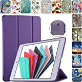 DuraSafe Cases For iPad 4 / 3 / 2 - 9.7' A1458 A1459 A1460 A1403 A1416 A1430 A1395 A1396 A1397 Smart Tri Fold Cover with Translucent Back - Purple