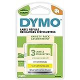 DYMO LT Etiquetas Starter Pack con papel, plástico y metálicos | Blanco,...
