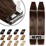 40 Pcs Extensions Adhesives Cheveux Naturels Bande Adhesive Tape in Human Hair Extensions 40CM - #02...