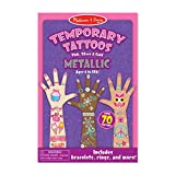 Melissa & Doug Temporary Tattoos - Metallic Temporary Tattoos (Great Gift for Girls and Boys - Best for 4, 5, 6, 7, 8 Year Olds and Up)