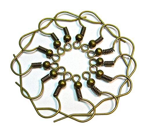 Geralin Gioielli Lote de 50 ganchos para pendientes, color bronce
