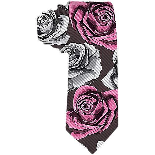 Corbata Clásica Para Hombre Corbata De Flores Con Flores Rosas Vintag