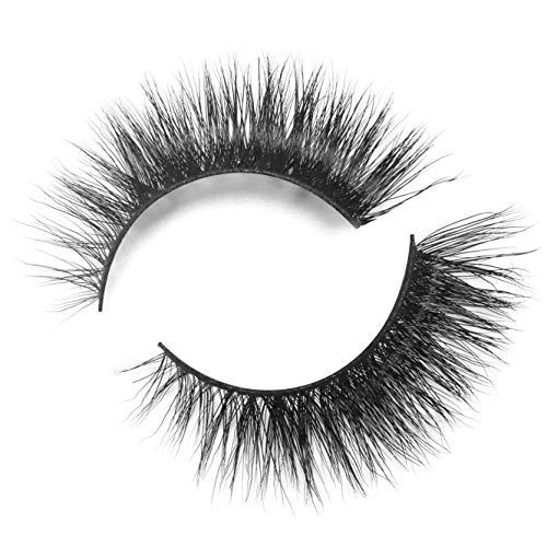 BEPHOLAN Mink Lashes| 100% Siberian Mink Fur Lashes| Natural Flare Look| Totally Cruelty-Free| Reusable &Handmade| 3D Mink Lashes| Non-Irritating Fake Eyelashes| XMZ08