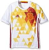adidas UEFA Euro 2016 Camiseta Selección Española de Futbol 2ª Equipación 2016/2017, Niños, Blanco/Rojo/Amarillo, 164