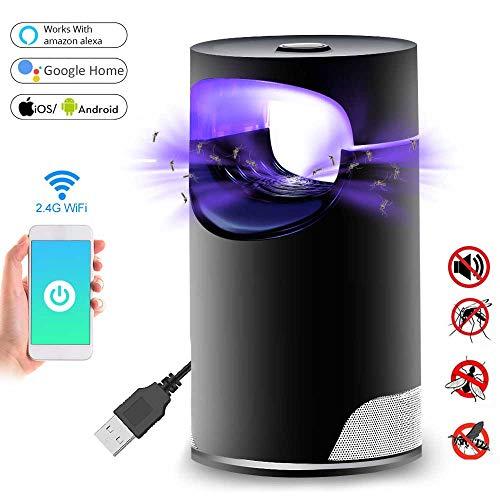 Womdee Mosquito Killer Lampe, 2019 Nouveau Smart WiFi USB Photocatalyst Bug Zapper Compatible avec Alexa, Google Assistance, Safe sans Produits Chimiques Ultra-Silence pour la Maison en Plein air