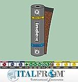 ITALFROM - Guaina Impermeabilizzante Ardesiata Bituminosa Mineral Spring Poliestere - H1x10m