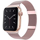 BOLUBUS Compatible with Apple Watch Bands 38mm 40mm 42mm 44mm Women Men, Stainless Steel iWatch Bands for Series 6/SE/5/4/3/2/1