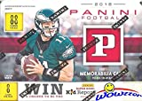2018 Panini NFL Football EXCLUSIVE HUGE Factory Sealed Blaster Box with MEMORABILIA Card! Look for Rookies & Autograph's of Baker Mayfield, Sam Darnold, Saquon Barkley, Josh Allen & Many More! WOWZZER