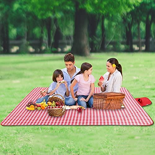 Coperta da picnic, impermeabile, 200 x 200 cm, coperta da campeggio, lavabile, per attività...