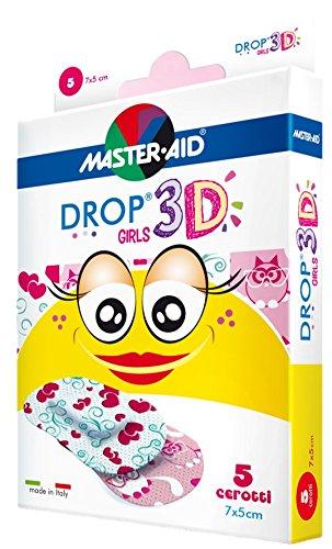 Sensitive Kinderpflaster, Mädchenmotive, DROP® 3D Girls (5cm x 7cm) MASTER AID - 5 Stück