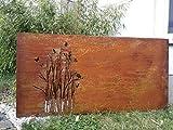 Zen Man Edelrost Garten Sichtschutz Metall 1mm Sichtschutzwand Rost Sichtschutzwand 032006-1 H75 *...