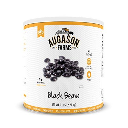 Augason Farms Black Beans 5 lbs No. 10 Can