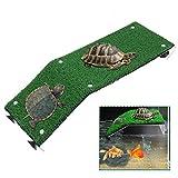 Plataforma de tortuga, plataforma flotante de descanso de tortuga con ventosa, muelle de tortuga, muelle de plástico para acuario, decoración de flotador de terraza para tomar el sol