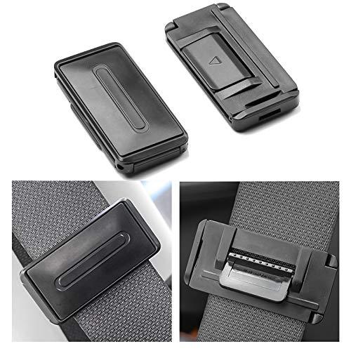 Newseego Autositz Gurtversteller, Sicherheitsgurt Clips | Smart Adjust Sitzgurte zum Entspannen Schulter Hals Geben Ihnen Eine Komfortable und Sichere Erfahrung | 2 Stück Schwarz
