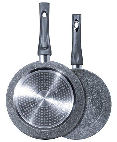 Bialetti y0C6set001Frau Petra Induktion 2.0Pfanne Aluminium Grau 24/28cm