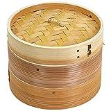 ウメザワ 木製 中華セイロ 18cm 2段 直径18×15.5cm 61461