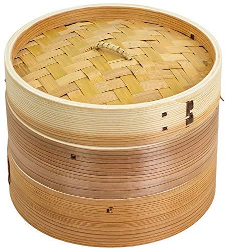 ウメザワ 木製 中華セイロ 24cm 2段 直径24×15.5cm 61478