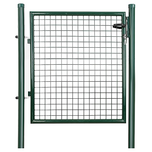 SONGMICS Cancello da Giardino Cancelletto Recinto con Serratura Pedonale Barriera Modulabile per Cortile GGD150G