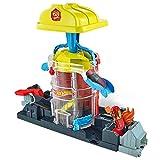 Hot Wheels City Super Rescate del Fuego, pistas de coches de juguete (Mattel GJL06)