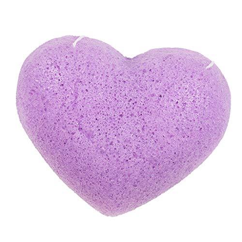 MERIGLARE Exfoliant Nettoyant éponge Nettoyant Naturel Konjac Facial Puffs Nettoyant En Profondeur - Violet Lavande