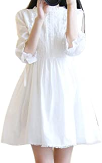 Honghu女性半袖レースミニショートドレスVestidos Cute Streetwear Dresses