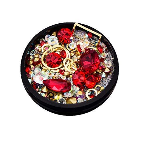 YUYOUG DIY Nail Art 3D Diamant Strass à Ongles Art Décorations (A)