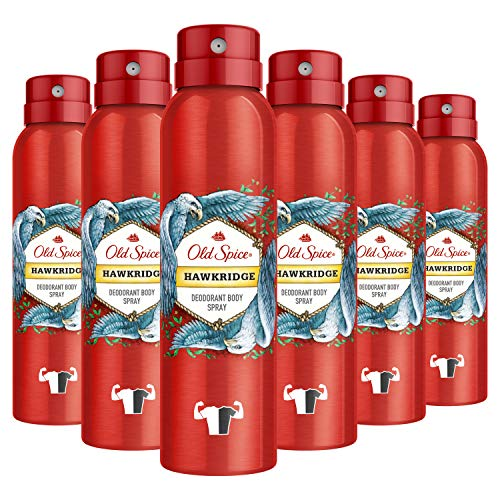 Old Spice Hawkridge Spray corporal 150 ml, 6 paquetes