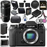 Fujifilm X-T2 Mirrorless Digital Camera (Body Only) 16519247 + Fujifilm XF 50-140mm f/2.8 R LM OIS WR Lens 16443060 Bundle