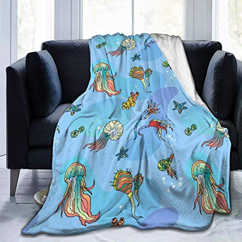 Searster$ Fleece Blanket Coperta Da Tiro Stampata Con Motivo Under Sea World Ultra Soft Per Bambini Adolescenti Adulti 50X40 Pollici