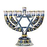 MYPNB 9-Branch Menorah Candelabra, Decoración de Hogar Adornos Decoración de Mesa Decoración Hogar, Titular de la Vela for Hanukkah Ceremonia de Navidad Shabat (Color : A)