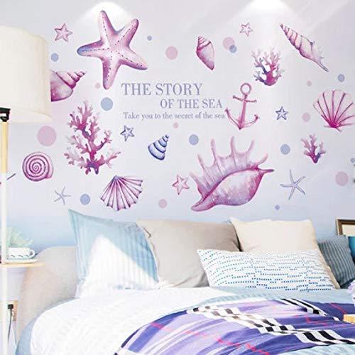 YLBHD Pegatinas de Pared con Tema oceánico DIY baño Inodoro Mural de Azulejos Impermeables pequeños Carteles de patrón decoración de Dormitorio Papeles de Pared decoración del hogar
