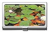 Mariposa Yanteng Hermosa flor de loto Portatarjetas de visita profesional-Waterlilies Estuche de identificación de tarjeta de crédito/Estuche/tarjetas