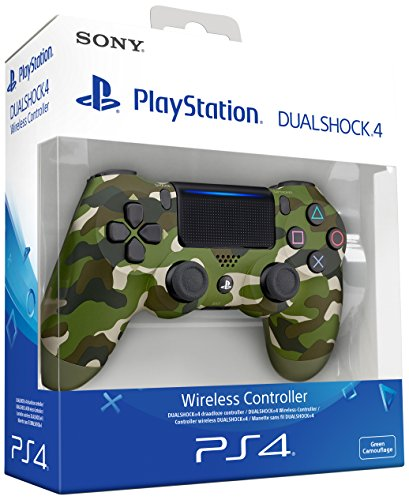 Sony – Dualshock 4 V2 Mando Inalámbrico, Color Verde Camuflaje