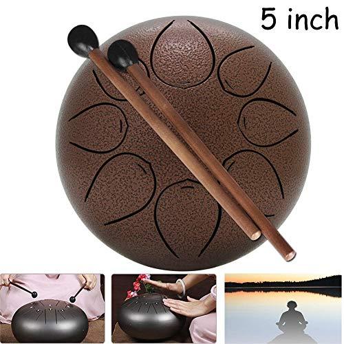 Steel Tongue Drum, Fünf Zoll Handtrommel Pan Drum Kind Schlaginstrument Mit Lotus-Trommel Brahma Drum Zungentrommel (Color : #2, Size : 5 inches)